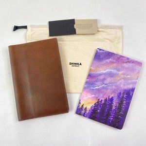 Shinola Brown Leather Journal Cover 80pg Notebook